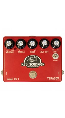Фото YERASOV INSECT-RS-1 RED SCORPION DISTORTION (Yerasov Insect-RS-1 Red Scorpion Distortion, педаль эффектов, дисторшен.)