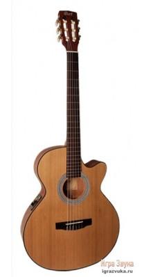 Фото CORT CEC1-NAT CLASSIC SERIES (Электро-акустическая классическая гитара, с вырезом, цвет натуральный)