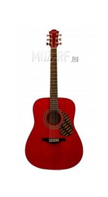 Hohner hw220twr - гитара красного цвета
