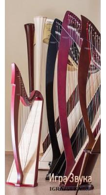 Фото RESONANCE HARPS MIRA M005LEV (Арфа с леверсами 28 струн, цвет отделки - красный)