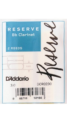 Фото RICO DCR0230 RESERVE (Трости для кларнета Bb, размер 3.0, 2шт)