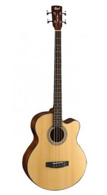 Фото CORT SJB5F-NS ACOUSTIC BASS SERIES (Электро-акустическая бас-гитара, с вырезом, цвет натуральный)