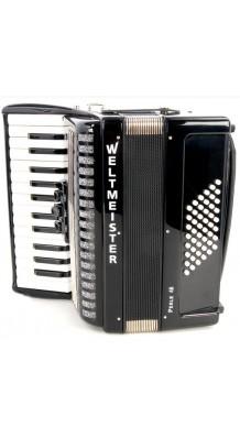 Фото WELTMEISTER PERLE  26/48/II/3 BK (Облегченный аккордеон начального уровня, с ремнями и чехлом)