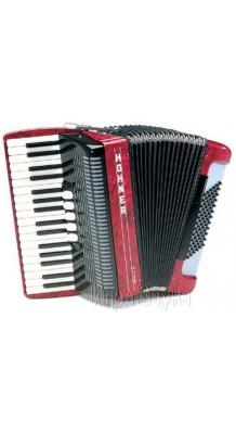 Фото HOHNER AMICA III 72 RED (Аккордеон 3/4 34 клавиши, 5 регистров; 72 баса, 3 регистра)