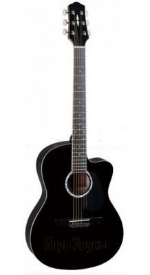 Фото NARANDA CAG240C BLACK (Акустическая гитара Цвет - черный, с вырезом)