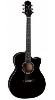 Фото NARANDA TG120CBK (Акустическая гитара с вырезом, цвет - черный)