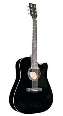 Фото CARAYA F601-BK (Черная акустическая вестерн-гитара с вырезом)