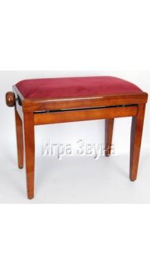 Фото LUTNER PB20-VRD-CHP (Коричневая банкетка с красным сиденьем)