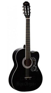 Фото BESTWOOD MCA101C-1BK (Акустическая гитара С широким классическим грифом, цвет - черный)