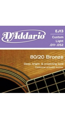 Фото D`ADDARIO EJ13 (Комплект металлических струн в бронзовой оплетке для гитары)