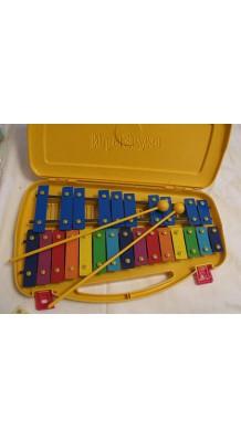 Фото DA BO DB-25K (Детский металлофон 25 пластин, 2 палочки и кейс в комплекте)