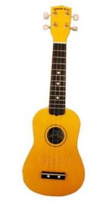 Фото DIAMOND HEAD DHU-104 (Укулеле сопрано, цвет - желтый, тонкий чехол в комплекте)