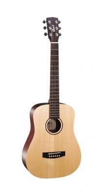Фото CORT EARTH-MINI-F EARTH SERIES (Электро-акустическая гитара 3/4, цвет натуральный, с чехлом)