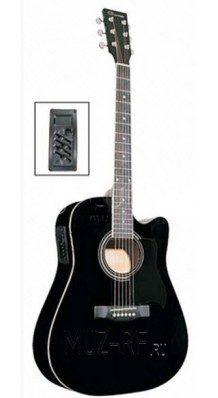 Фото CARAYA F641-EQ-BLACK (Электро-акустическая 6-струнная гитара)