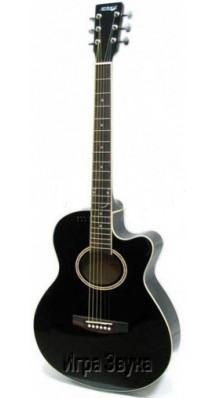 Фото HOMAGE LF-401C-B (Джамбо-гитара Акустическая шестиструнная с вырезом, цвет - черный)