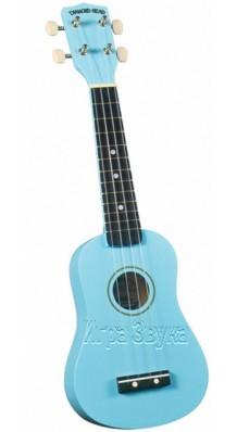 Фото DIAMOND HEAD BL (Сопрано укулеле, цвет - голубой, чехол в комплекте)