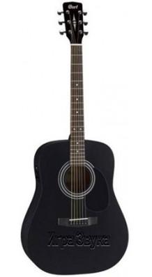 Фото PARKWOOD W81-BKS (Матовая акустическая гитара из массива, черная)