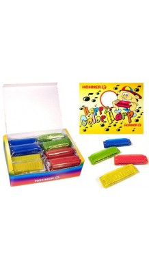 Фото HOHNER M91600 (Коробка с губными гармошками 24 шт, с цветным пластиковым корпусом)