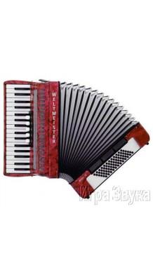 Фото WELTMEISTER ACHAT 72 34/72/III/5/3 (Красный аккордеон 3/4, с ремнями и чехлом)