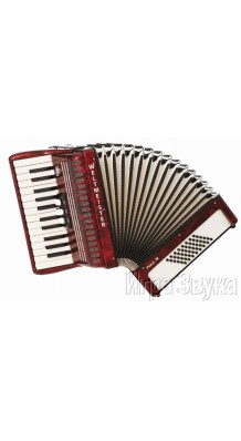 Фото WELTMEISTER PERLE 26/48/II/3 RD (Красный аккордеон с ремнями и чехлом)