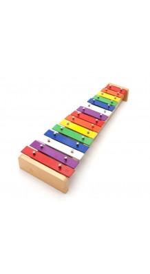 Фото YOUYANG LY-015 (Детский металлофон с разноцветными брусками, деревянные палочки в комплекте)