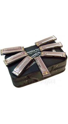 Фото HOHNER BLUES-BAND M91105 (Набор губных гармошек 7 штук в чемоданчике)