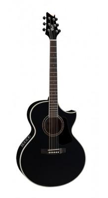 Фото CORT NDX-20-BK NDX SERIES (Черная электро-акустическая гитара с вырезом)