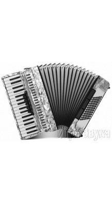 Фото WELTMEISTER ACHAT 72 34/72/III/5/3, СЕРЫЙ (Серый аккордеон, с ремнями и кейсом)