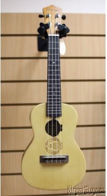 Фото EVERGREEN S242-ADK7 (Концертная укулеле из массива ели, дизайн - Сова)
