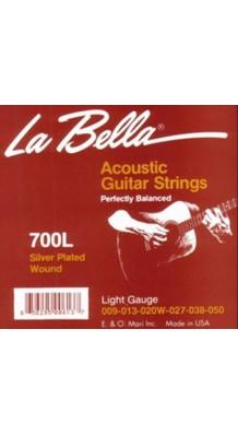 Фото LA BELLA 700L (Комплект металлических струн для 6-струнной гитары)