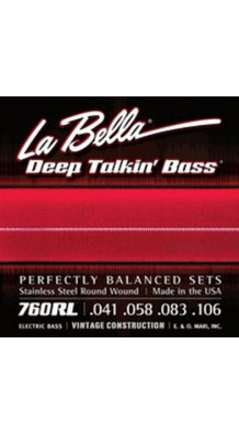 Фото LA BELLA 760RL (Cтруны для 4-х струнной бас-гитары, легкое натяжение)
