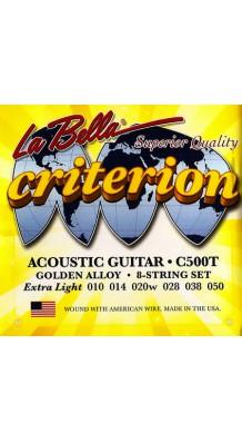 Фото LA BELLA C500TT (Струны для гитары Комплект + 1 и 2 струна запасные, стальные в бронзовой оплетке)
