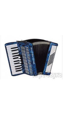 Фото WELTMEISTER PERLE АККОРДЕОН 26/48/II/3 BL (Синий аккордеон, с ремнями и чехлом)